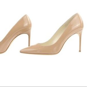Like new Brian Atwood Valerie nude patent pumps